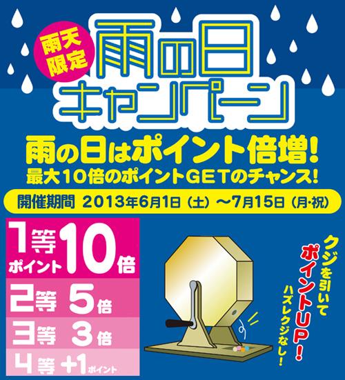 2013雨の日キャンペーン