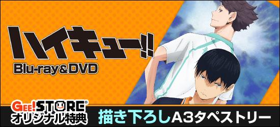 ハイキュー!! Blu-ray&DVD ジーストア&WonderGOO&新星堂オリジナル特典付きでご予約受付中!