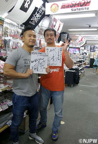 田口隆祐選手、KUSHIDA選手