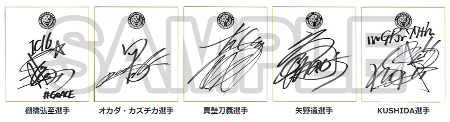 選手サイン色紙