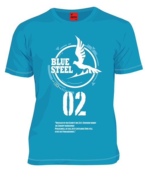 タカオTシャツ 青 Lサイズ